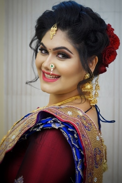 Marathi bridal makeup artist in pune